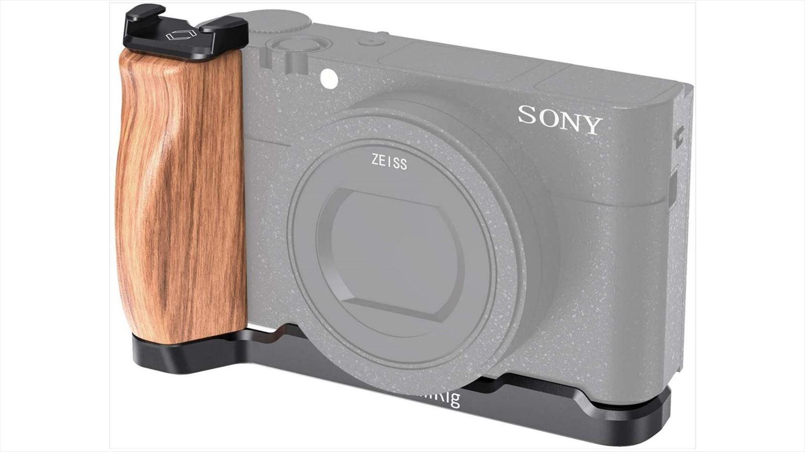 【満足度100%】RX100M7 シュー付きSmallRigの木製ハンドルで満足【超お買い得】